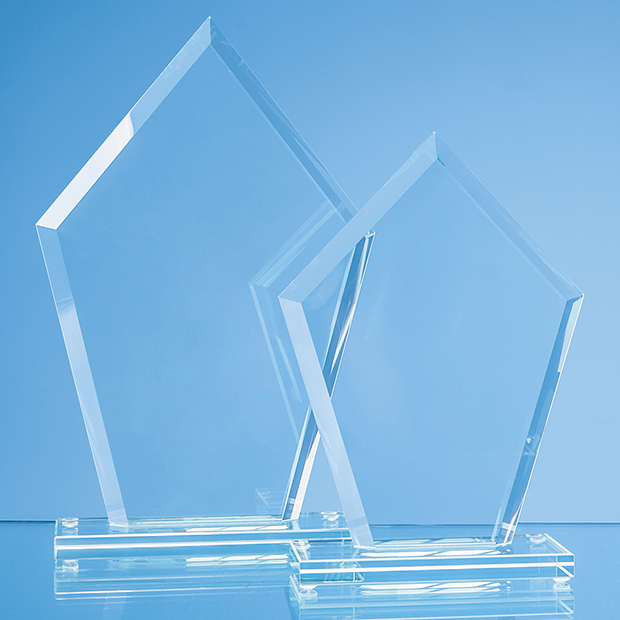 Jade Glass Bevelled Edge Diamond Award - TL53