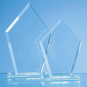 Jade Glass Bevelled Edge Diamond Award