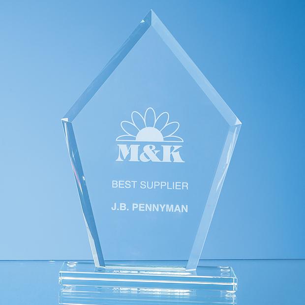 Jade Glass Bevelled Edge Diamond Award - TL55