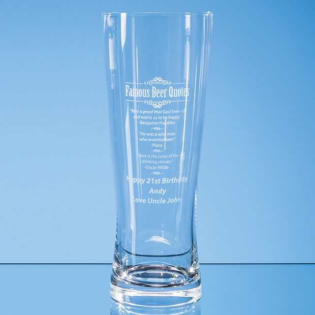 Large Handmade Beer Glass 0.7ltr - L754