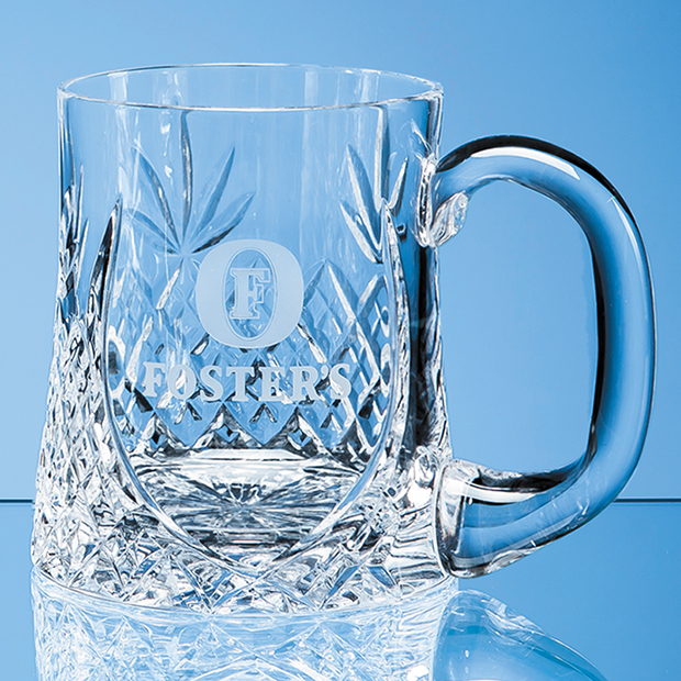 Lead Crystal Sloped Panel Tankard 0.425ltr - LOS3