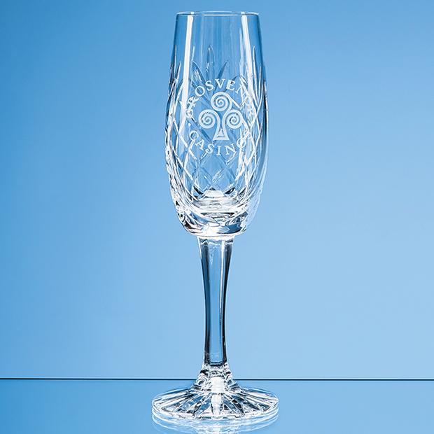 Glencoe Lead Crystal Panel Champagne Flute - LOS16