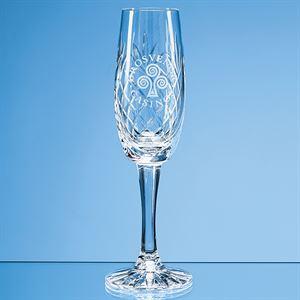 Glencoe Lead Crystal Panel Champagne Flute