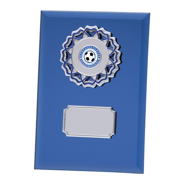 Mirage Multisport Mirror Glass Plaque Blue - CR4533