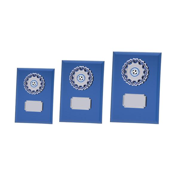 Mirage Multisport Mirror Glass Plaque Blue - CR4533 3 sizes