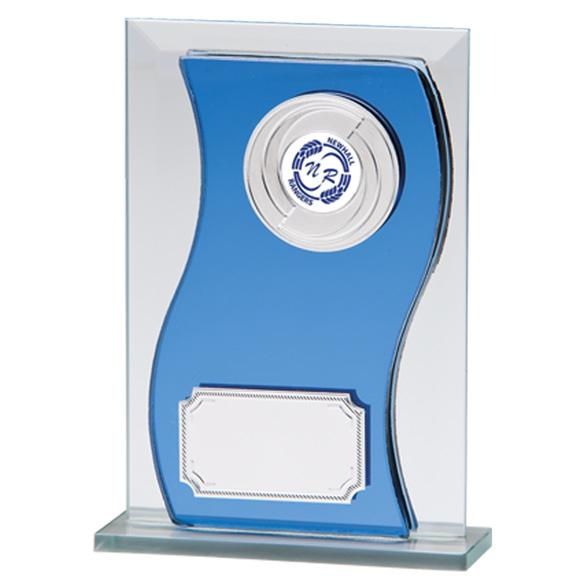 Azzuri Wave Mirror Glass Award - CR2194