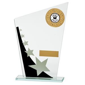 Mega Star Multisport Glass Award Black and Silver