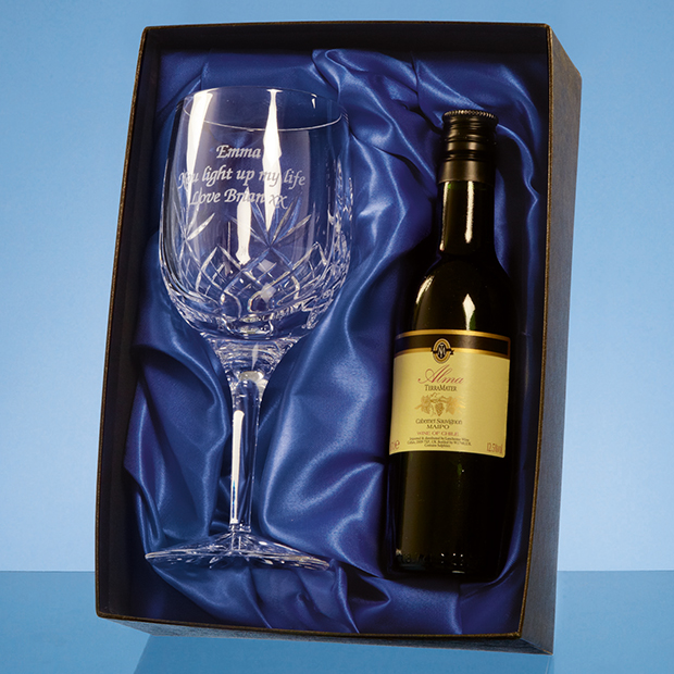 Blenheim Single Goblet Gift Set with a 18.7cl Bottle of Red Wine - PB206