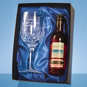 Blenheim Single Goblet Gift Set with a 18.7cl Bottle of Rose Wine - PB207