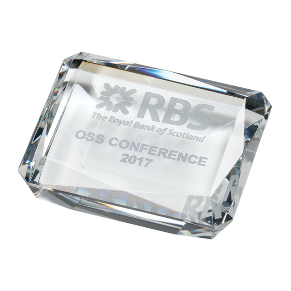 Lincoln Optical Crystal Paperweight - CR6120
