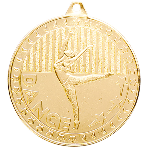 Gold Discovery Dance Medal (size: 50mm) - MM17127G
