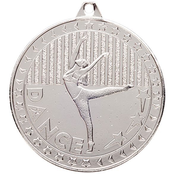 Silver Discovery Dance Medal (size: 50mm) - MM17127S
