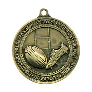 Gold Olympia Rugby Medal  (size: 60mm) - MM17085G