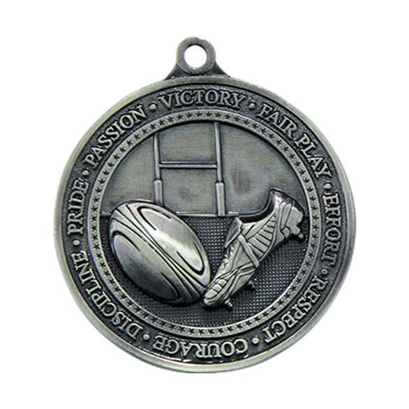 Silver Olympia Rugby Medal (size: 60mm) - MM17085S