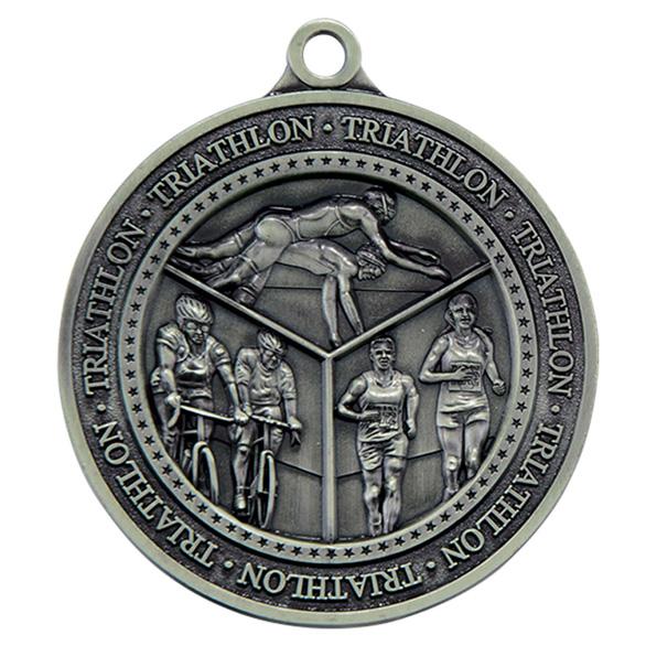 Silver Olympia Triathlon Medal (size: 60mm) - MM17012S