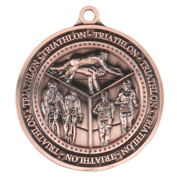 Bronze Olympia Triathlon Medal (size: 60mm) - MM17012B