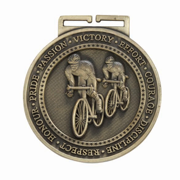 Gold Olympia Cycling Medal (size: 60mm) - MM16054G