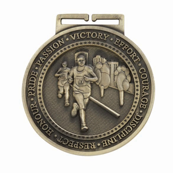 Gold Olympia Running Medal (size: 60mm) - MM16053G