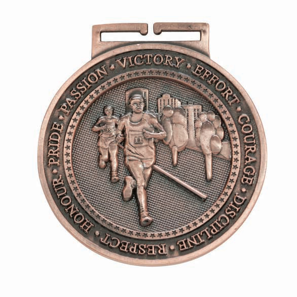Bronze Olympia Running Medal (size: 60mm) - MM16053B