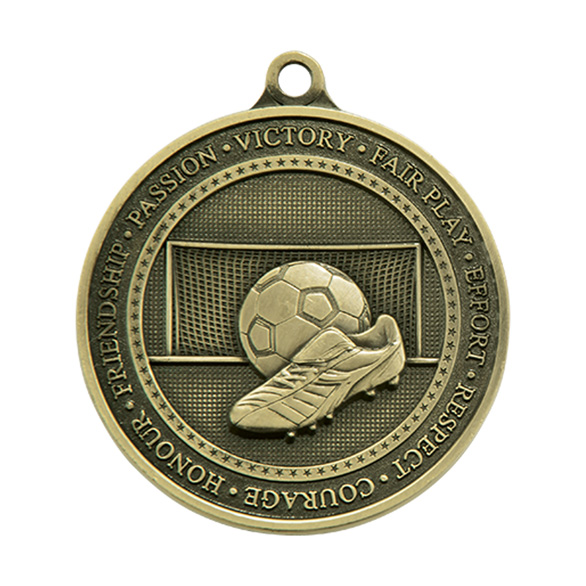 Gold Olympia Football Boot Medal  (size: 70mm) - MM17016G
