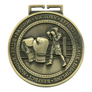 Gold Olympia Boxing Medal (size: 70mm) - MM17016G
