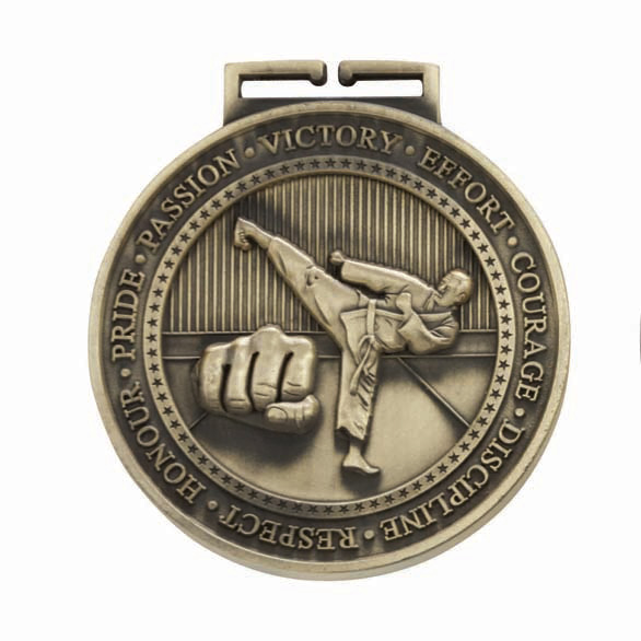 Gold Olympia Karate Medal (size: 70mm) - MM17016G