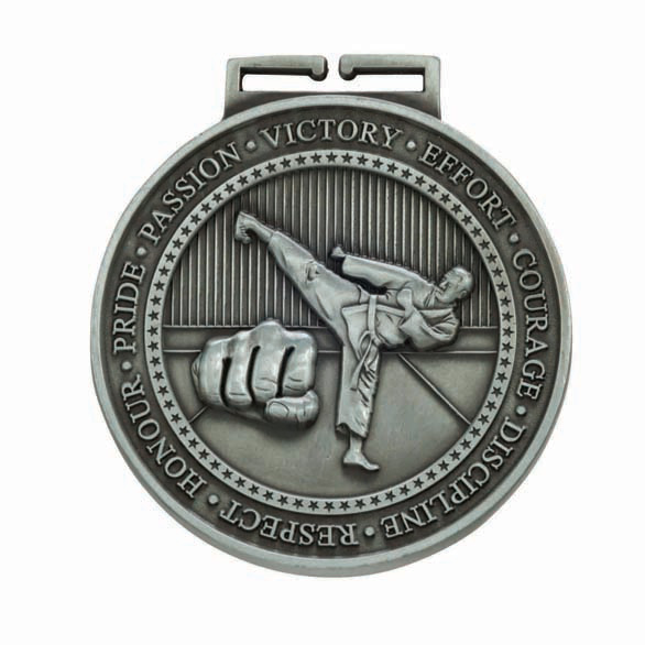 Silver Olympia Karate Medal (size: 70mm) - MM17016S