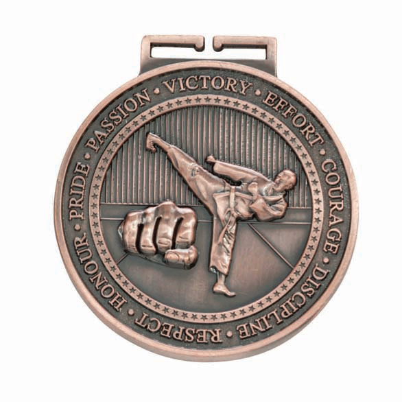 Bronze Olympia Karate Medal (size: 70mm) - MM17016B