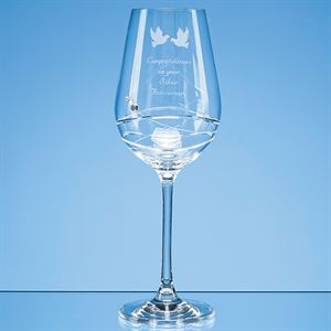 Diamante Wine Glass with Modena Spiral Cutting