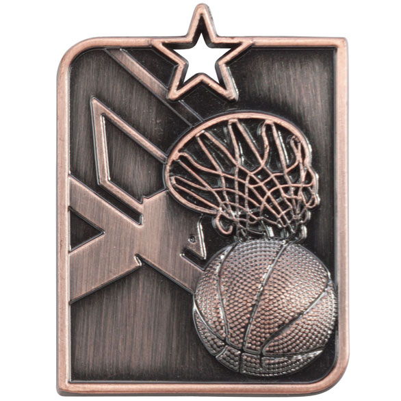 Bronze Centurion Star Basketball Medal (size: 53mm x 40mm) - MM15012B