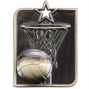 Gold Centurion Star Netball Medal (size: 53mm x 40mm) - MM15013G