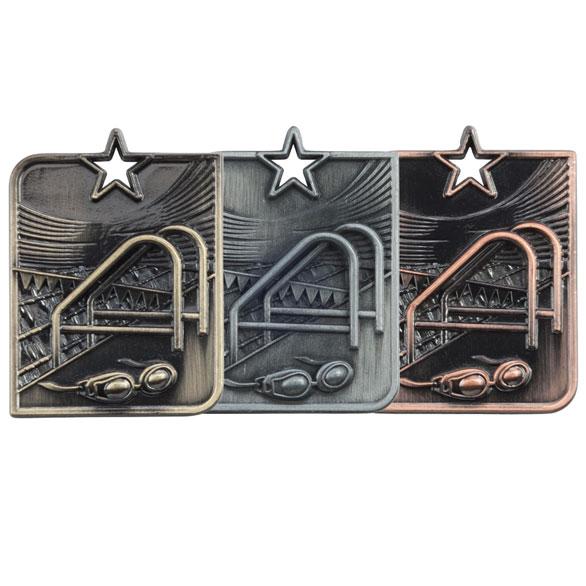 Centurion Star Swimming Medal (size: 53mm x 40mm) - MM15011