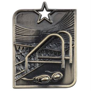 Gold Centurion Star Swimming Medal (size: 53mm x 40mm) - MM15011G