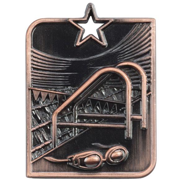 Bronze Centurion Star Swimming Medal (size: 53mm x 40mm) - MM15011B