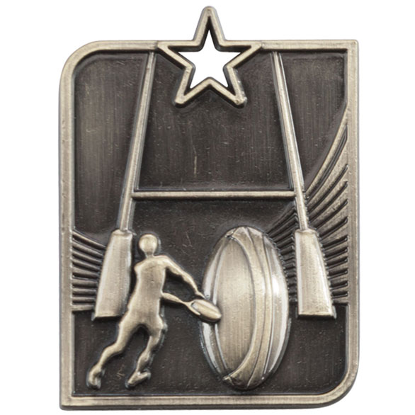 Gold Centurion Star Rugby Medal (size: 53mm x 40mm) - MM15008G