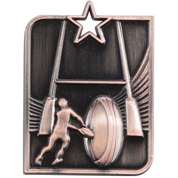 Bronze Centurion Star Rugby Medal (size: 53mm x 40mm) - MM15008B
