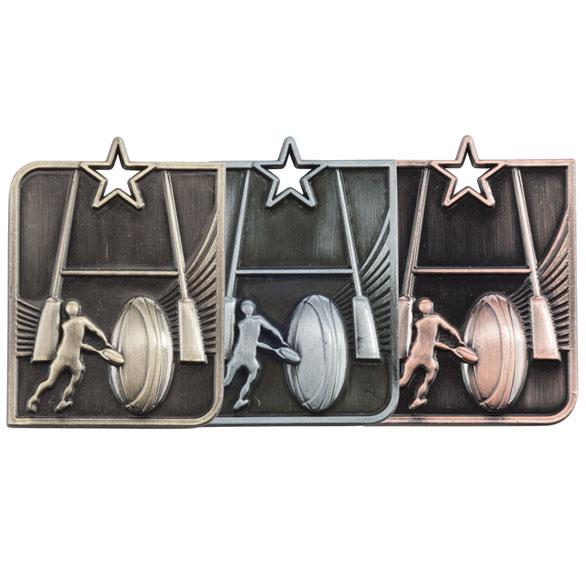 Centurion Star Rugby Medal (size: 53mm x 40mm) - MM15008