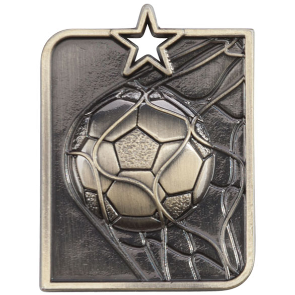 Gold Centurion Star Football Medal (size: 53mm x 40mm) - MM15007G