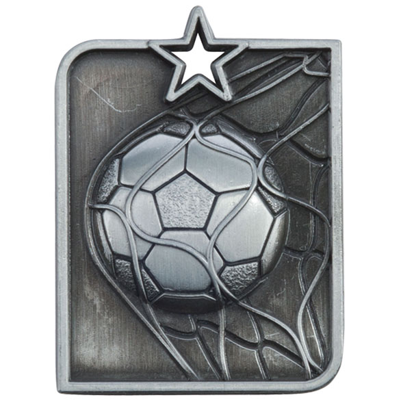 Silver Centurion Star Football Medal (size: 53mm x 40mm) - MM15007S