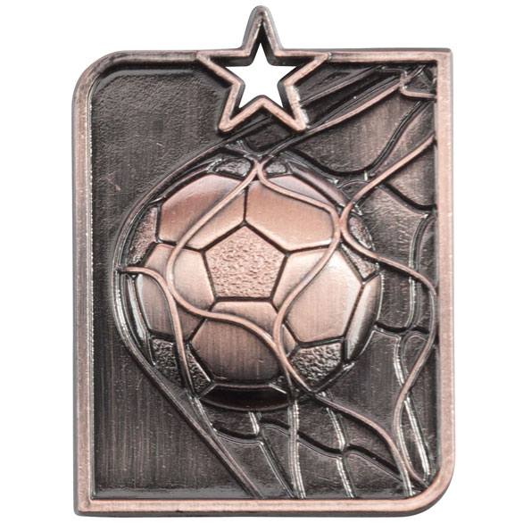 Bronze Centurion Star Football Medal (size: 53mm x 40mm) - MM15007B