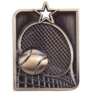 Gold Centurion Star Tennis Medal (size: 53mm x 40mm) - MM15016G