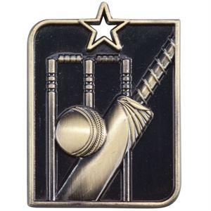 Gold Centurion Star Cricket Medal (size: 53mm x 40mm) - MM15009G