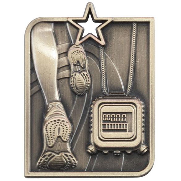 Gold Centurion Star Running Medal (size: 53mm x 40mm) - MM15010G