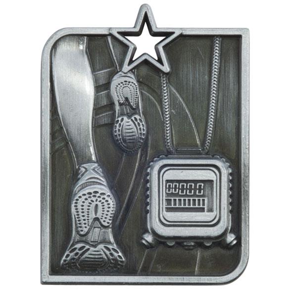 Silver Centurion Star Running Medal (size: 53mm x 40mm) - MM15010S
