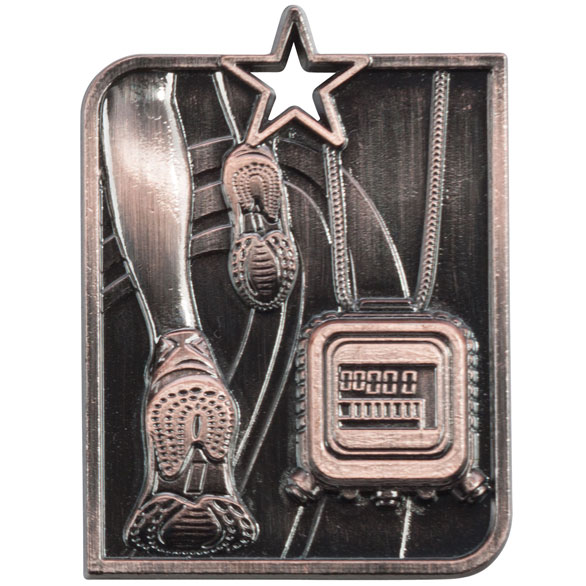 Bronze Centurion Star Running Medal (size: 53mm x 40mm) - MM15010B
