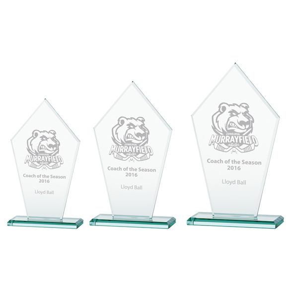Jade Victory Crystal Award 3 sizes - CR16134