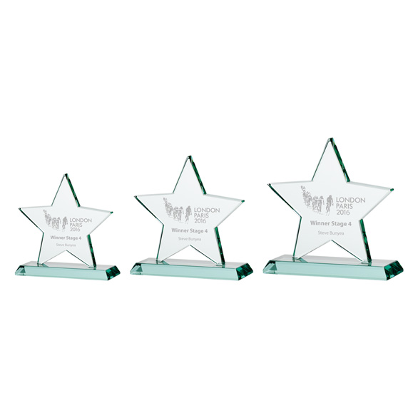 Jade Galaxy Star Crystal Award 3 sizes - CR16135