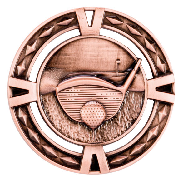 Bronze V-Tech Golf Medal (size: 60mm) - MM1032B