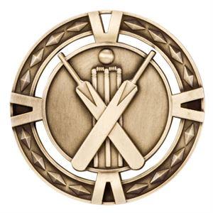 Gold V-Tech Cricket Medal (size: 60mm) - MM1036G