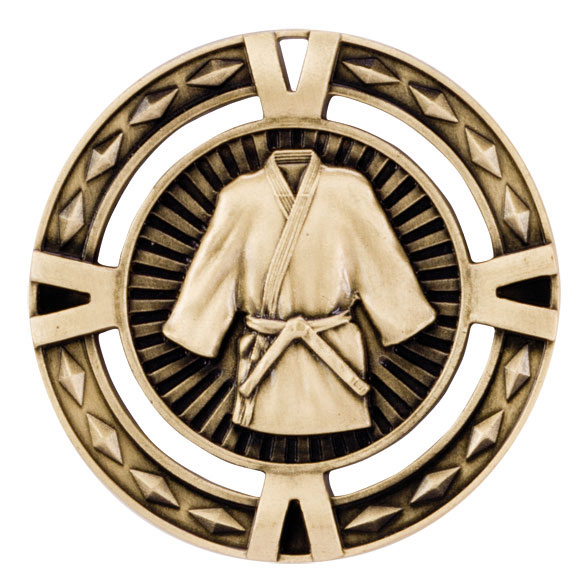 Gold V-Tech Martial Arts Medal (size: 60mm) - MM1029G